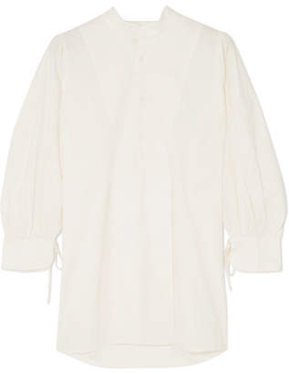 Apiece Apart Isli Viola Cotton-poplin Tunic - White