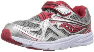 Saucony Boy's Baby Ride 9 Running Shoes, Silver/Red