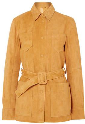 Victoria, Victoria Beckham - Belted Suede Jacket - Mustard