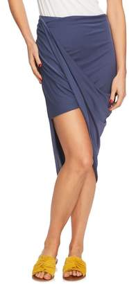 1 STATE 1.STATE Asymmetrical Wrap Style Skirt