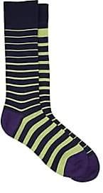 Paul Smith Men's Striped Cotton-Blend Mid-Calf Socks - Navy