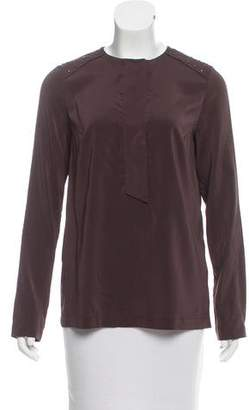 Brunello Cucinelli Embellished Silk Top