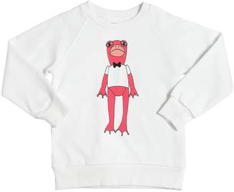 Mini Rodini Frog Print Organic Cotton Sweatshirt