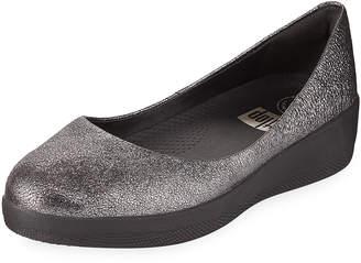 FitFlop Shimmer Suede Slip-On Ballerina Shoe