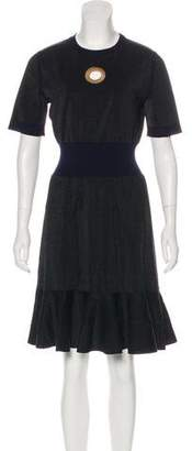 Louis Vuitton Short Sleeve Knee-Length Dress