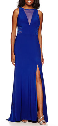 R & M Richards R&M Richards Sleeveless Sheer-Inset Formal Gown $120 thestylecure.com