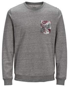 Jack and Jones Printed Cotton Sweatshirt