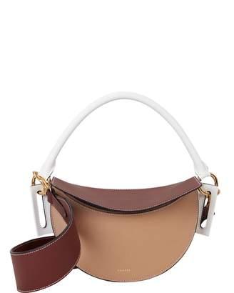 Yuzefi Brown Dip Colorblock Bag