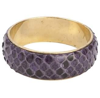 Dolce & Gabbana Purple Exotic Leathers Bracelet