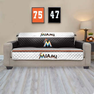 Miami Marlins Quilted Sofa Cover