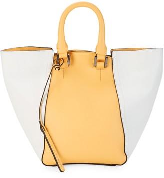T Tahari Jordan Colorblock Leather Convertible Bucket Bag