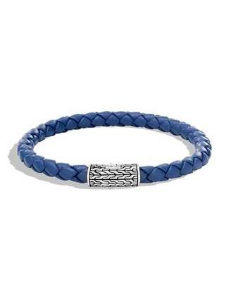 John Hardy Men's Classic Chain Woven Bracelet, Blue