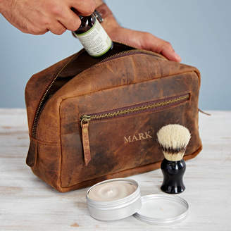 Buffalo David Bitton Paper High Personalised Leather Wash Bag