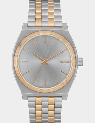 Nixon Time Teller Silver & Gold Watch
