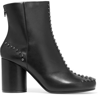 Maison Margiela - Studded Leather Ankle Boots - Black $1,195 thestylecure.com