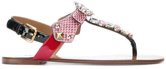 Dolce & Gabbana embellished open-toe sandals