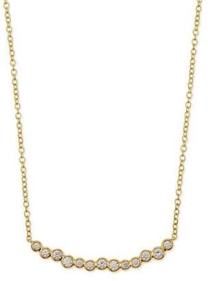 Ippolita 18k Glamazon Stardust Smile Bar Necklace with Diamonds