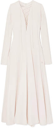 Stella McCartney Lace-up Cady Maxi Dress - Cream