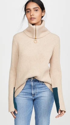 Tory Burch Patch Cuff Sweater