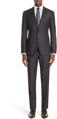 Emporio Armani G-Line Trim Fit Check Wool Suit
