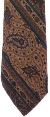 Balenciaga Paisley Striped Silk Tie
