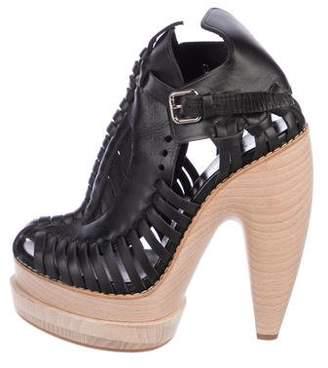 Proenza Schouler Leather Platform Booties