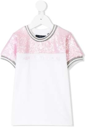 Harmont & Blaine Junior sequin embroidery knitted T-shirt