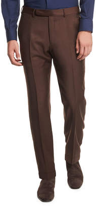 Ermenegildo Zegna High Performance Trofeo Wool Trousers, Rust