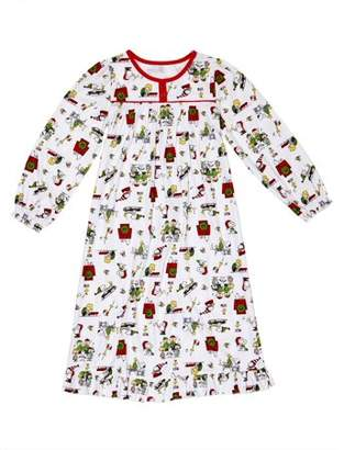 Peanuts Snoopy & Friends Christmas Long Sleeve Granny Nightgown Pajamas (Toddler Girls)