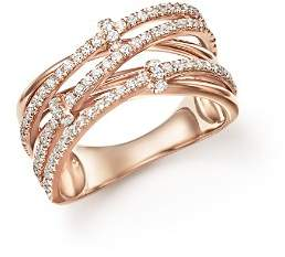 Bloomingdale's Diamond Multi-Row Crossover Ring in 14K Rose Gold, 0.50 ct. t.w. - 100% Exclusive