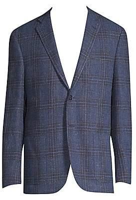 Corneliani Men's Regular-Fit Glen Plaid Sportcoat