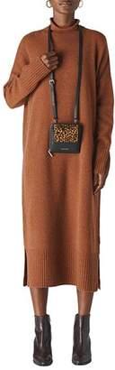 Whistles Merino Wool Turtleneck Sweater Dress