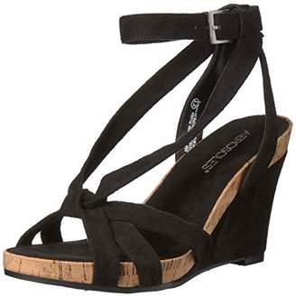 Aerosoles Women's Fashion Plush Wedge Sandal - Open Toe Strap Platform Heel Shoe with Memory Foam Footbed (M - )