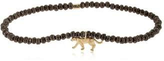 Luis Morais Yellow Gold Panter Beaded Bracelet