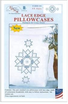 Jack Dempsey Pillowcase Lace XX Star