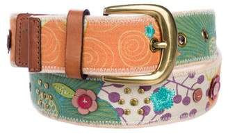 Fossil Embroidered Buckle Belt