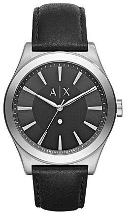 Armani Exchange AX Armani Exchange Nico Analog Leather-Strap Watch