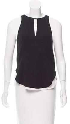 Rag & Bone Sleeveless Leather-Trimmed Top