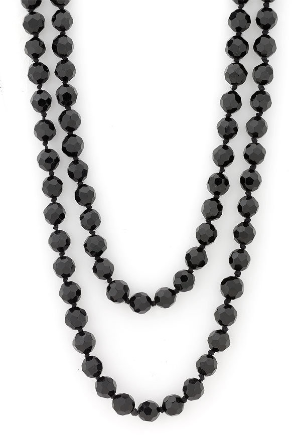 Nordstrom 10mm Glass Bead Long Strand Bead Necklace