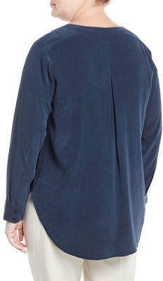 Go Silk Jacquard Two-Pocket Tunic, Plus Size