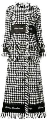 Dolce & Gabbana tweed long coat