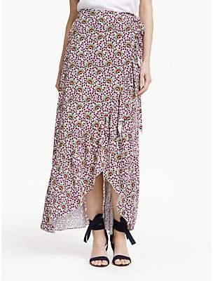 1350c63b9f Boden Florence Drape Maxi Skirt, Ivory Rouge Bloom