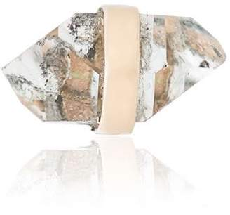 Melissa Joy Manning 14K yellow gold quartz stud earring