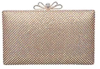 Fawziya Bow Clasp Diamond Flap Wedding Clutch Handbag Ladies Party Bag