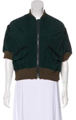 Kolor Three-Quarter Sleeve Zip-Up Jacket
