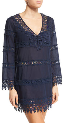 Tory Burch Crochet Lace Coverup Dress $325 thestylecure.com