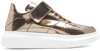 Alexander McQueen Raise-sole high-top leather trainers