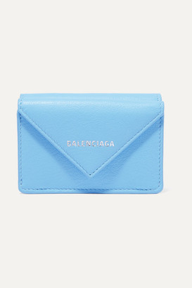 Balenciaga Papier Mini Textured-leather Wallet - Blue