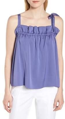Lewit Tie Strap Stretch Silk Camisole