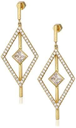Nicole Miller Pyramid Pave Kite Drop Earrings